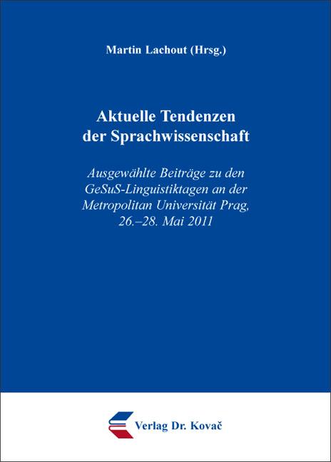 Cover: Aktuelle Tendenzen der Sprachwissenschaft