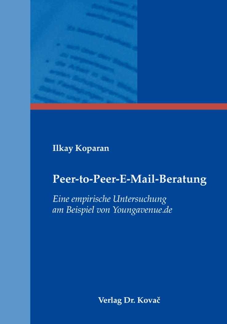 Cover: Peer-to-Peer-E-Mail-Beratung