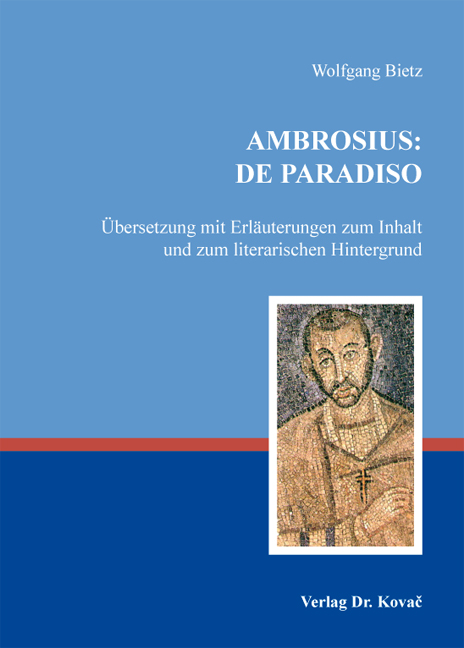 Cover: Ambrosius: De paradiso