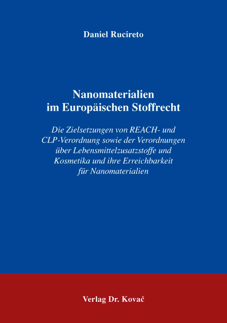 Cover: Nanomaterialien im Europäischen Stoffrecht