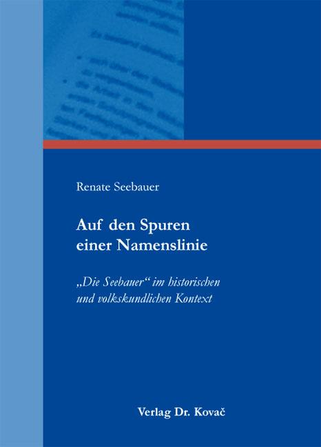 Cover: Auf den Spuren einer Namenslinie