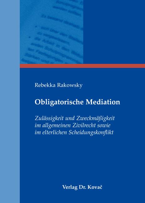 Cover: Obligatorische Mediation