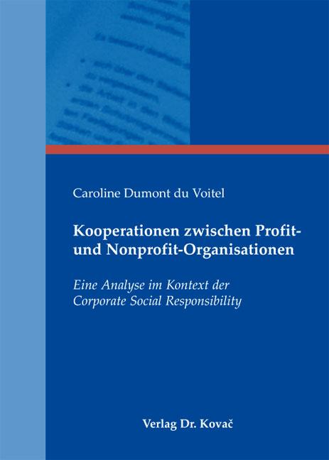 Cover: Kooperationen zwischen Profit- und Nonprofit-Organisationen