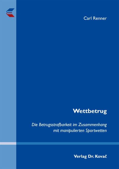Cover: Wettbetrug
