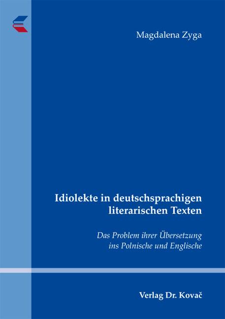 Cover: Idiolekte in deutschsprachigen literarischen Texten