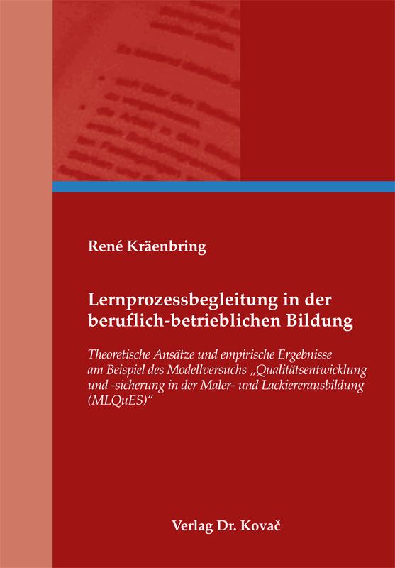Cover: Lernprozessbegleitung in der beruflich-betrieblichen Bildung