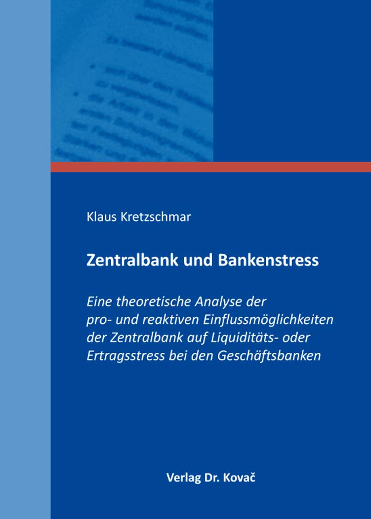 Cover: Zentralbank und Bankenstress