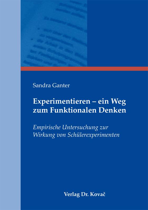 Cover: Experimentieren – ein Weg zum Funktionalen Denken