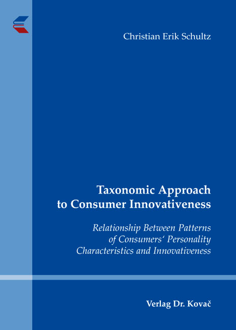 Cover: Taxonomic Approach to Consumer Innovativeness