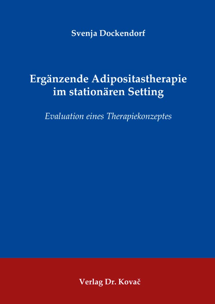 Cover: Ergänzende Adipositastherapie im stationären Setting