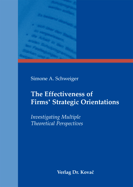 Cover: The Effectiveness of Firms' Strategic Orientations