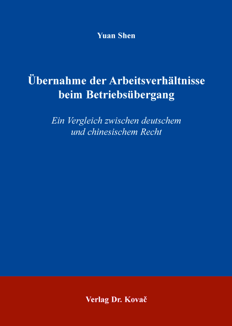 Cover: Übernahme der Arbeitsverhältnisse beim Betriebsübergang