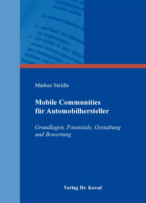 Cover: Mobile Communities für Automobilhersteller