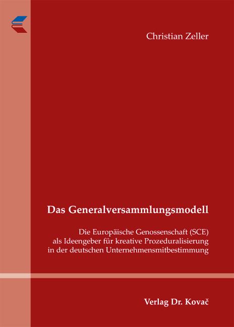 Cover: Das Generalversammlungsmodell