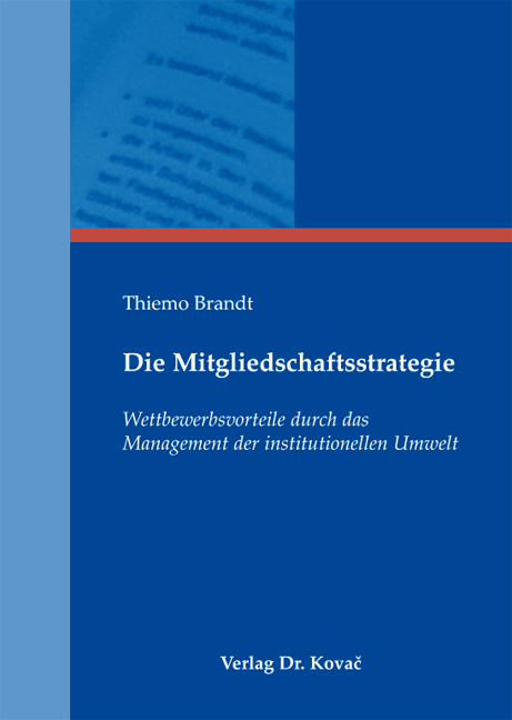 Cover: Die Mitgliedschaftsstrategie