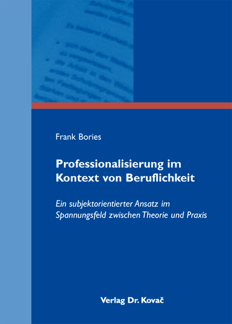 Cover: Professionalisierung im Kontext von Beruflichkeit