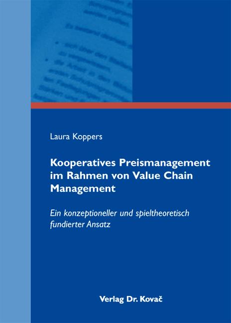 Cover: Kooperatives Preismanagement im Rahmen von Value Chain Management