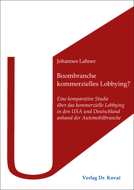 Cover: Boombranche kommerzielles Lobbying?