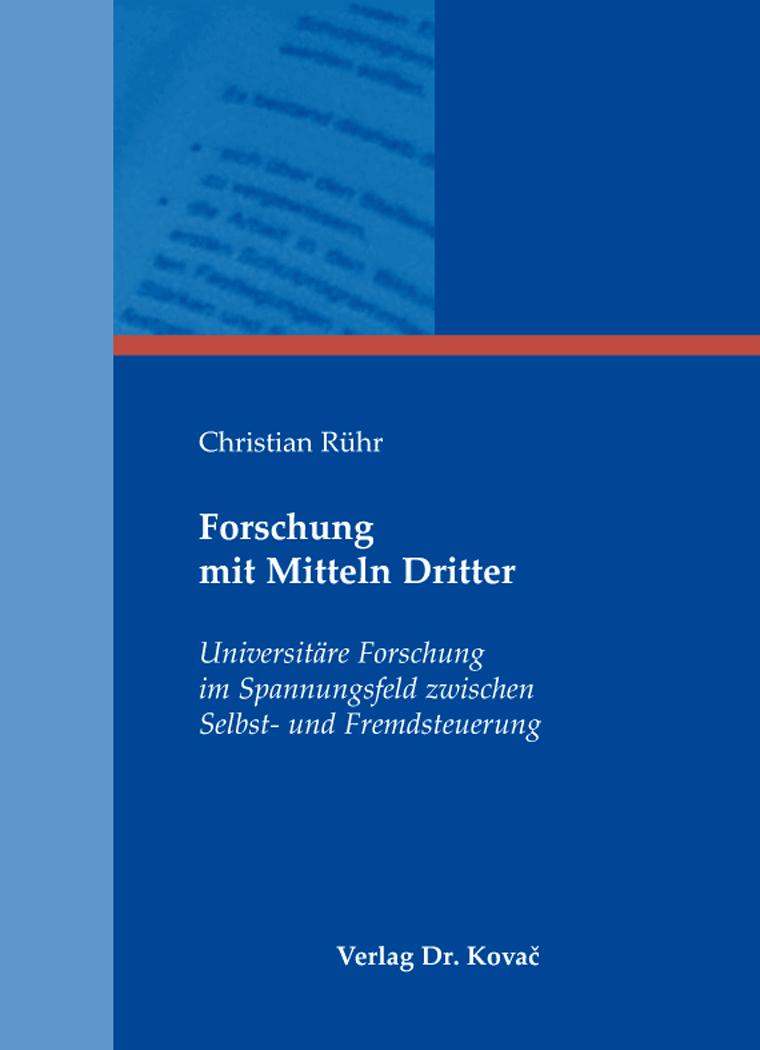 Cover: Forschung mit Mitteln Dritter