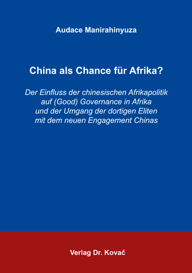 Cover: China als Chance für Afrika?