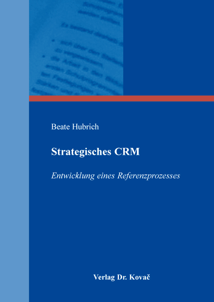 Cover: Strategisches CRM