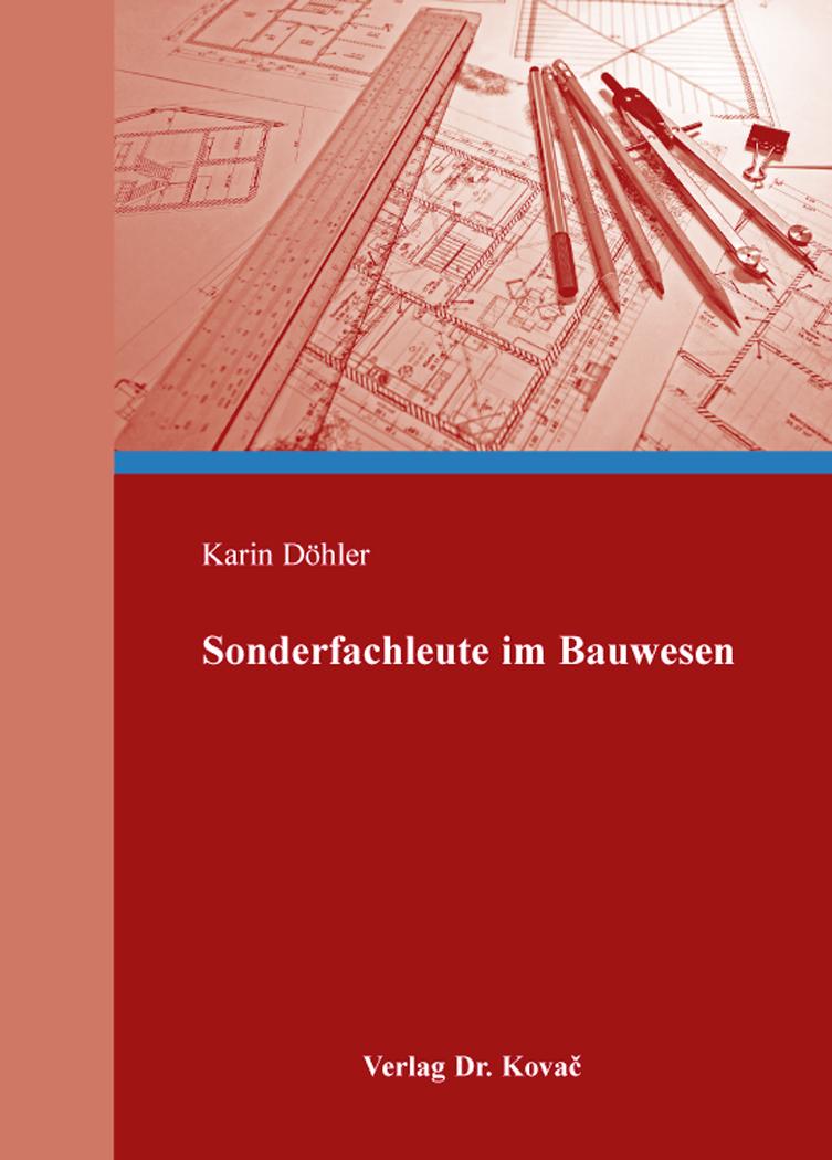 Cover: Sonderfachleute im Bauwesen