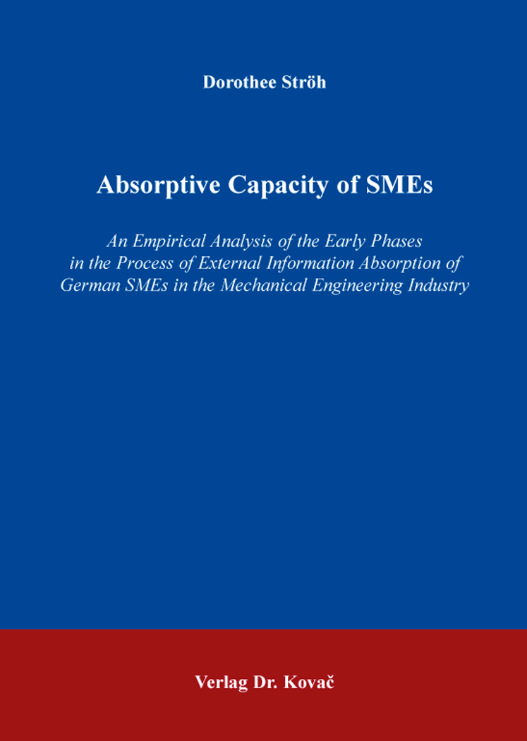 Cover: Absorptive Capacity of SMEs