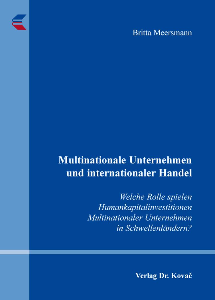Cover: Multinationale Unternehmen und internationaler Handel