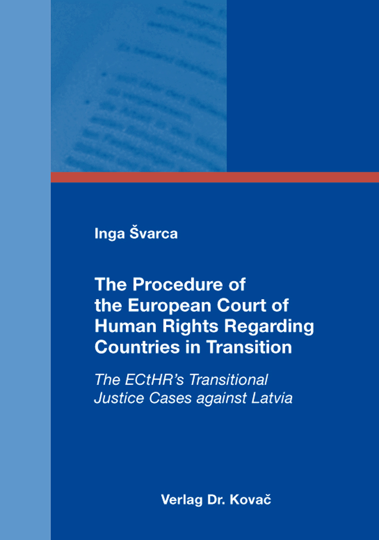 Cover: The Procedure of the European Court of Human Rights Regarding Countries in Transition