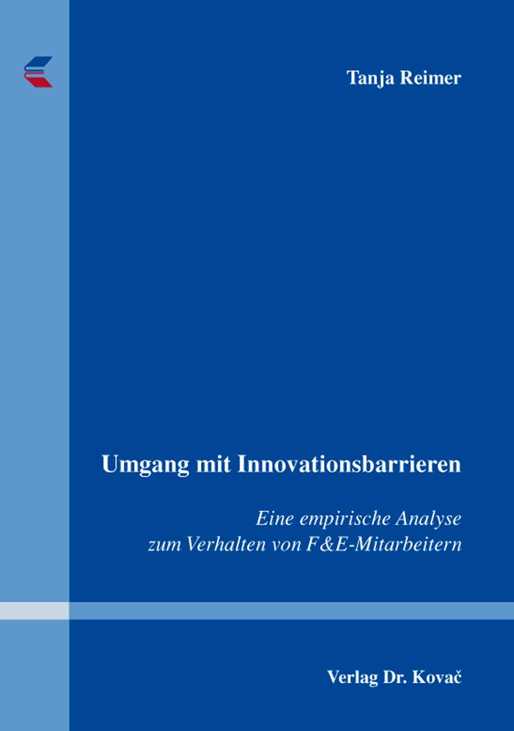 Cover: Umgang mit Innovationsbarrieren