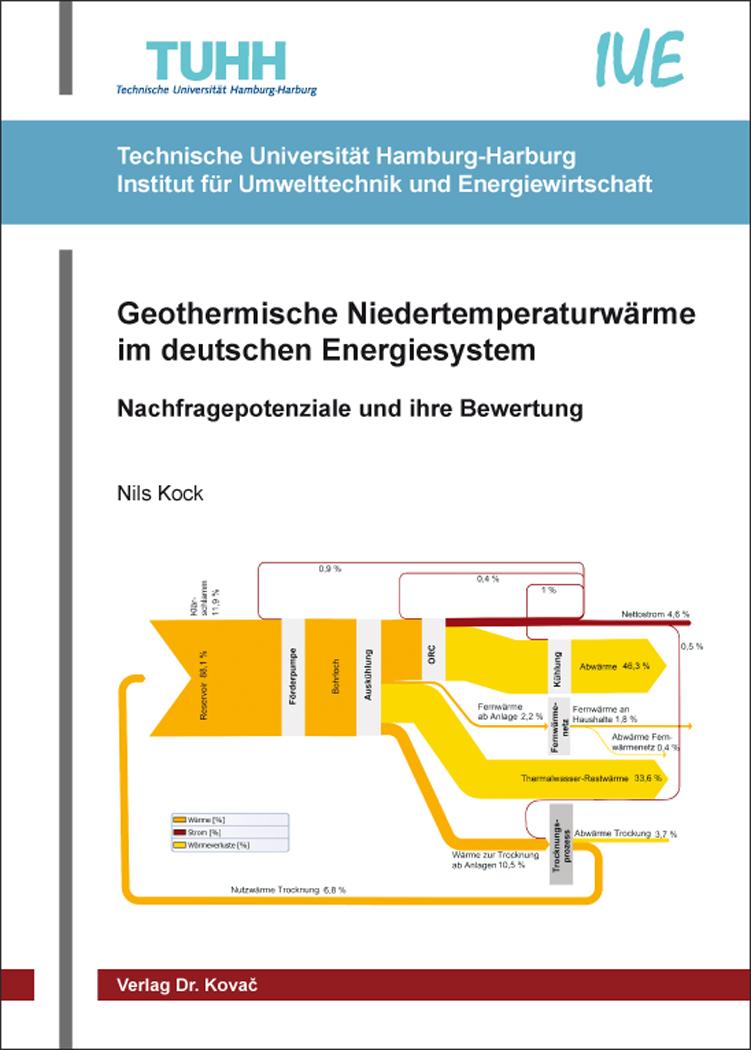 Cover: Geothermische Niedertemperaturwärme im deutschen Energiesystem