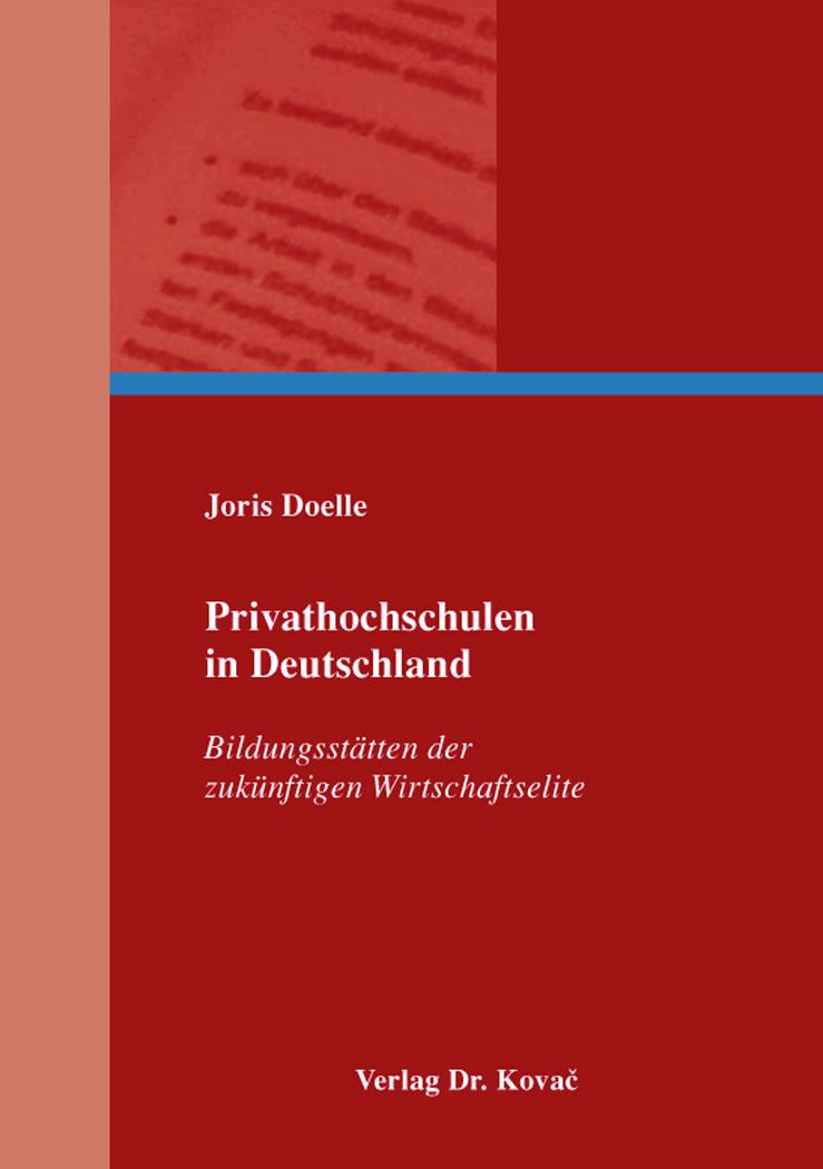 Cover: Privathochschulen in Deutschland