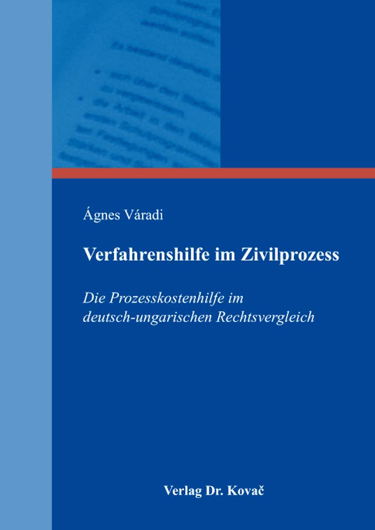 Cover: Verfahrenshilfe im Zivilprozess
