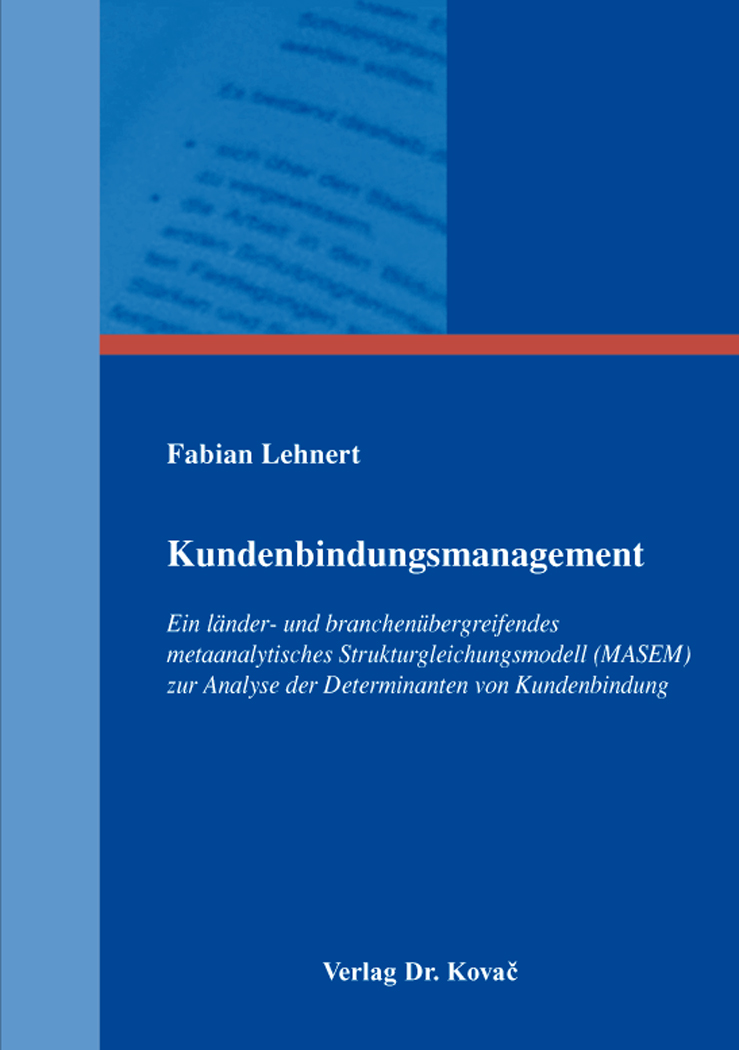 Cover: Kundenbindungsmanagement