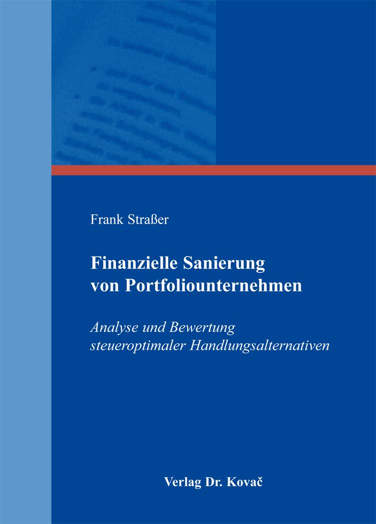 Cover: Finanzielle Sanierung von Portfoliounternehmen