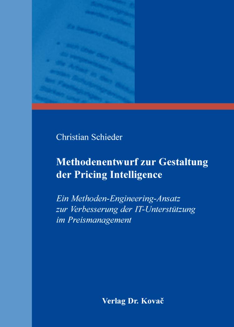 Cover: Methodenentwurf zur Gestaltung der Pricing Intelligence