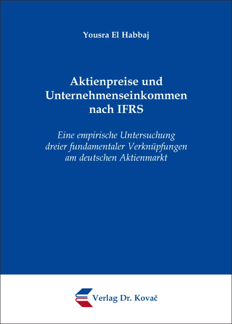 Cover: Aktienpreise und Unternehmenseinkommen nach IFRS