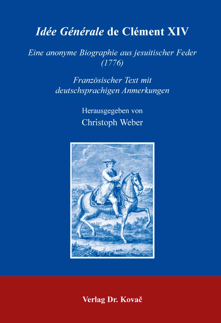 Cover: Idée Générale de Clément XIV