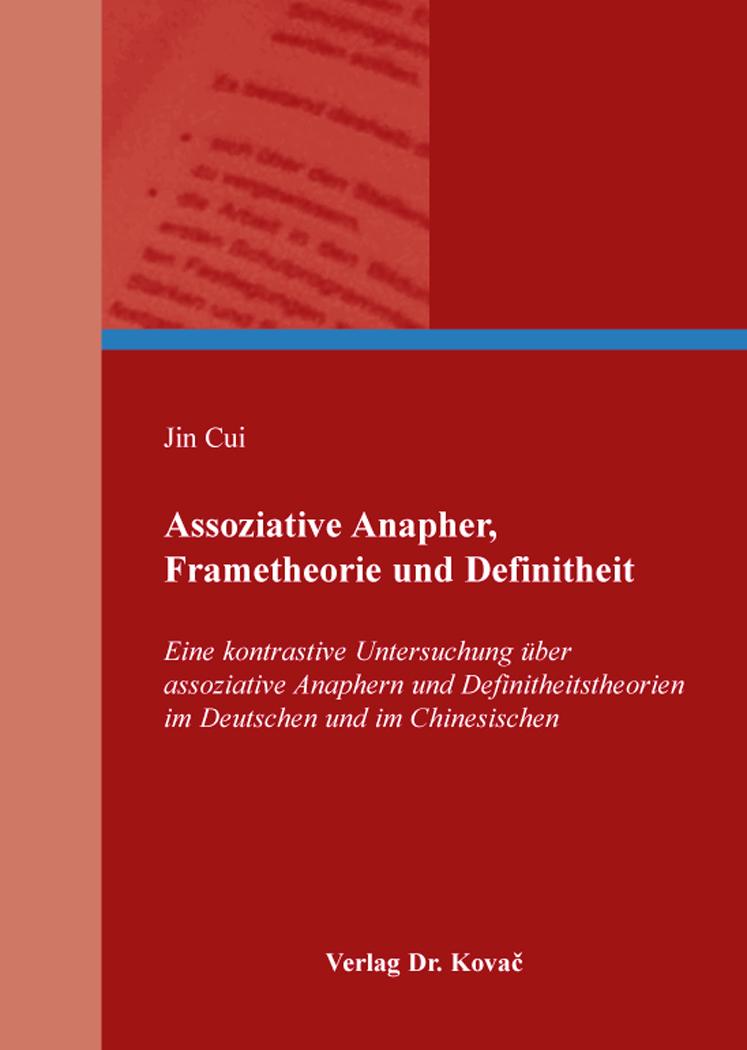Cover: Assoziative Anapher, Frametheorie und Definitheit