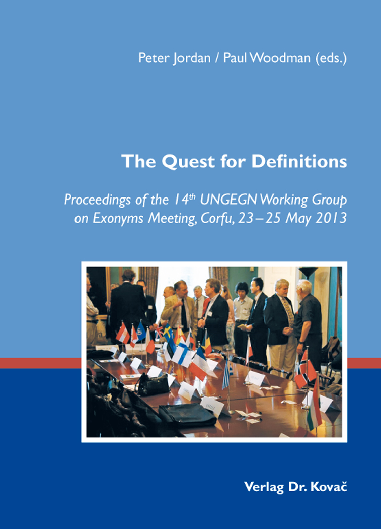 Cover: The Quest for Definitions