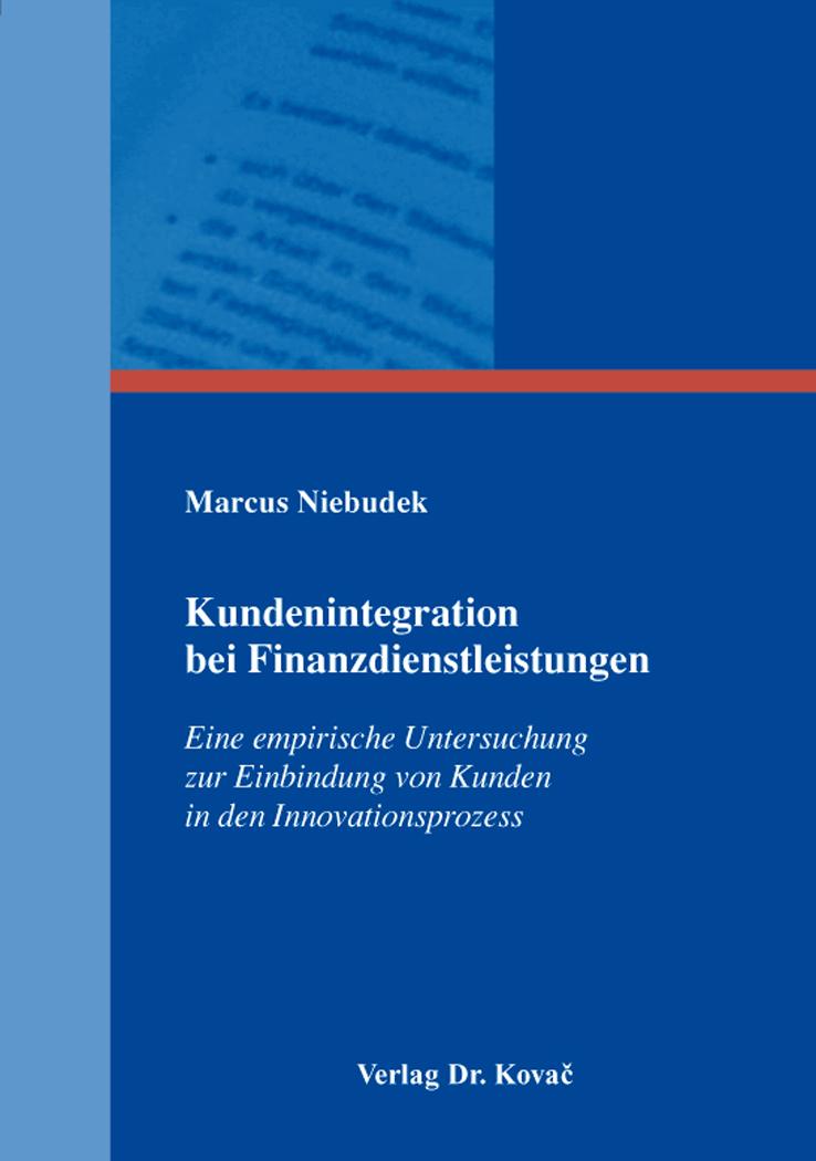 Cover: Kundenintegration bei Finanzdienstleistungen