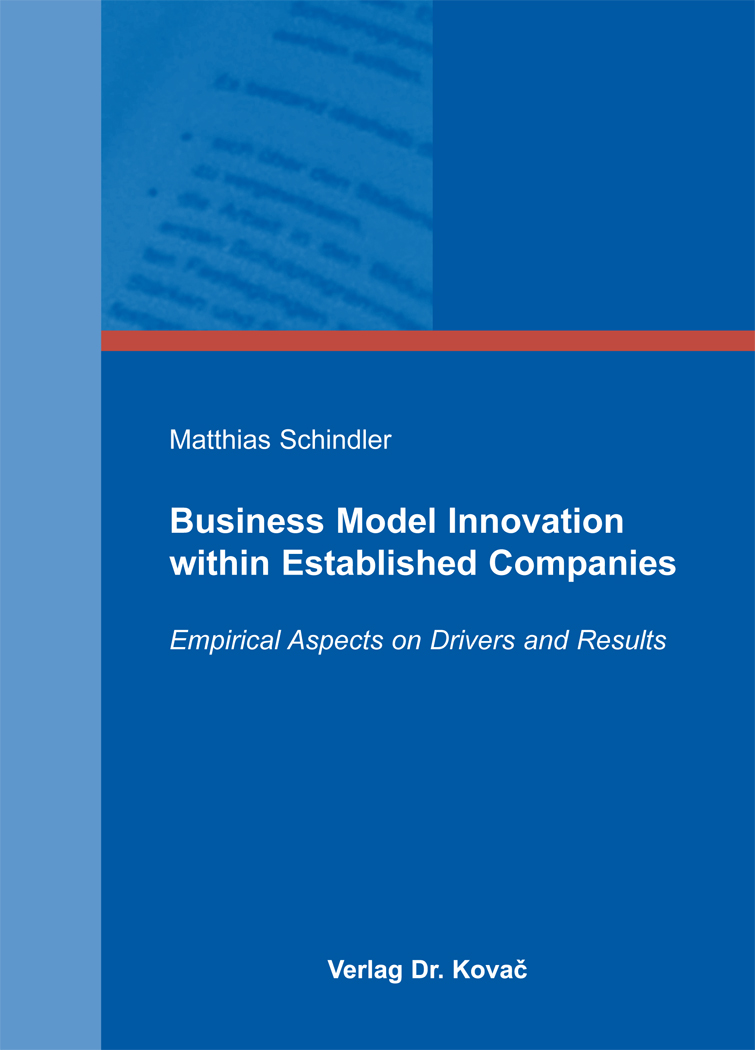 Cover: Business Model Innovation within Established Companies