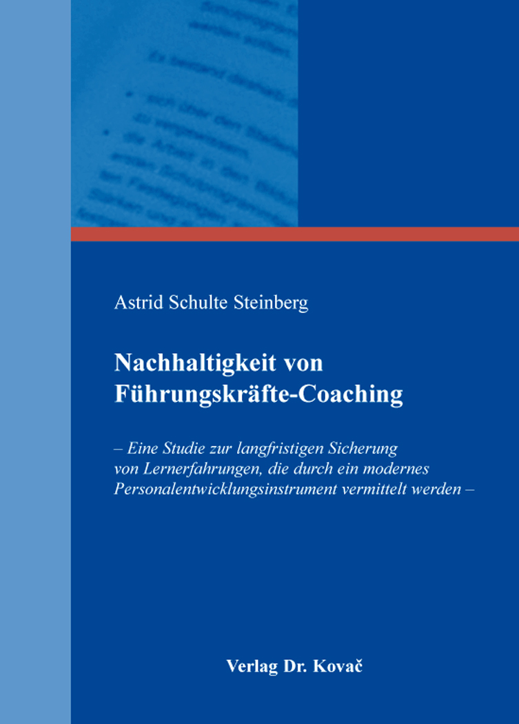 Cover: Nachhaltigkeit von Führungskräfte-Coaching