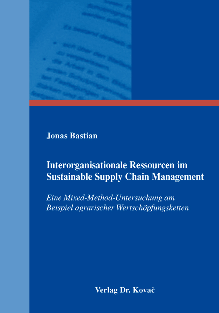 Cover: Interorganisationale Ressourcen im Sustainable Supply Chain Management