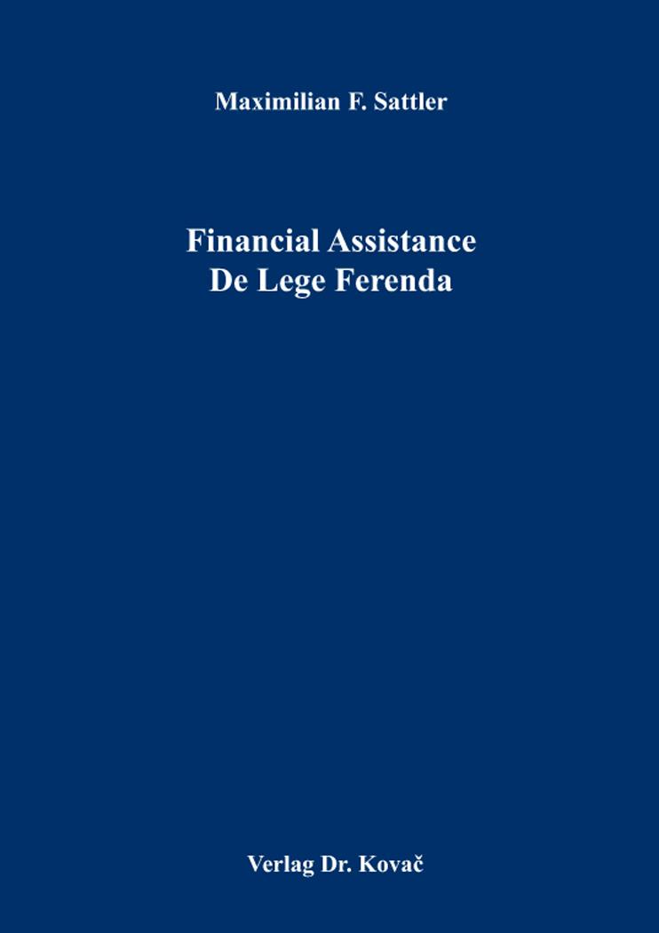 Cover: Financial Assistance De Lege Ferenda
