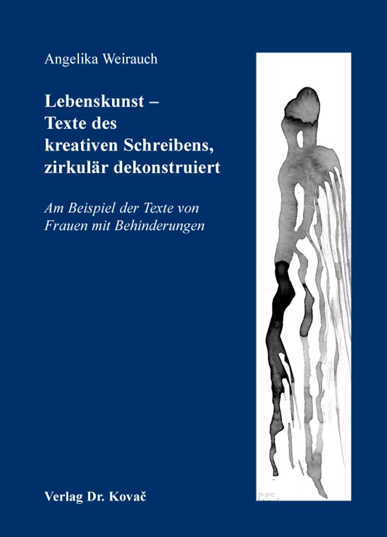 Cover: Lebenskunst – Texte des kreativen Schreibens, zirkulär dekonstruiert