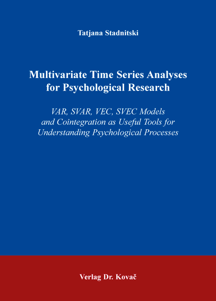 Cover: Multivariate Time Series Analyses for Psychological Research