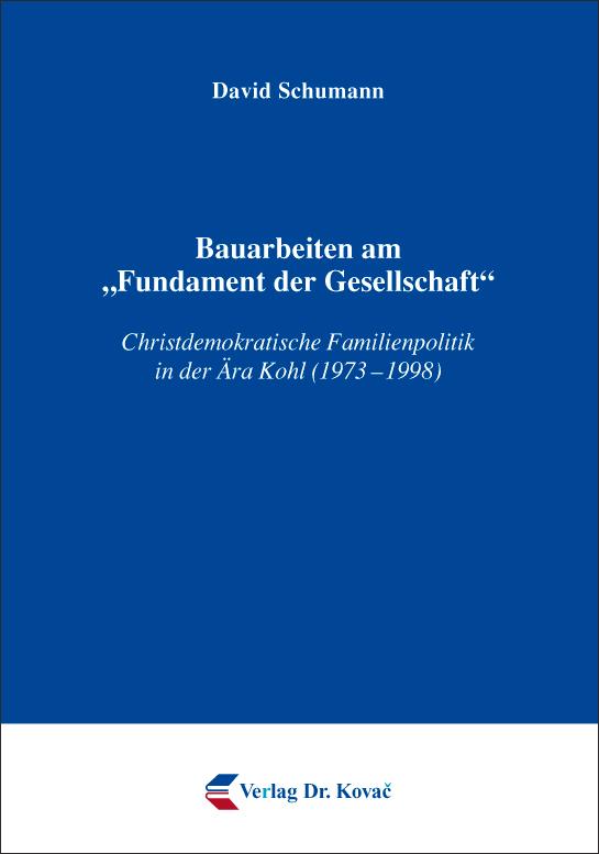 """Cover: Bauarbeiten am """"Fundament der Gesellschaft"""""""