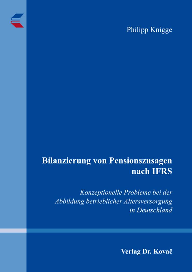 Cover: Bilanzierung von Pensionszusagen nach IFRS