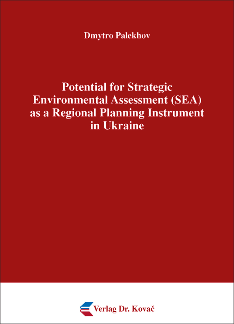 Cover: Potential for Strategic Environmental Assessment (SEA) as a Regional Planning Instrument in Ukraine
